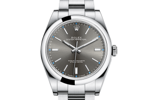 Reloj Rolex para hombres Oyster Perpetual Oystersteel 114300